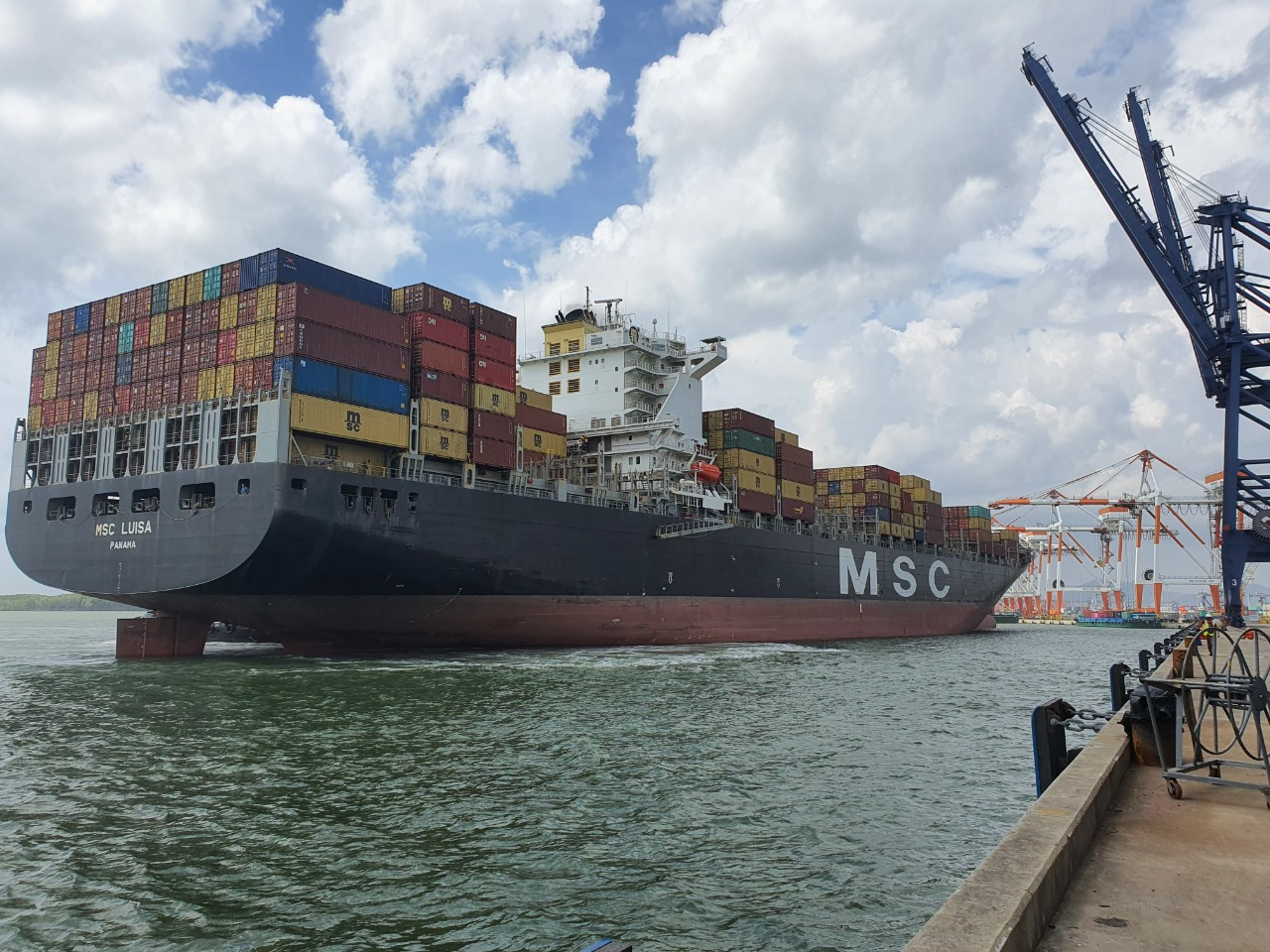 M/V MSC LUISA calling SSIT on August 18th, 2020 with total volume of 3,977 TEU